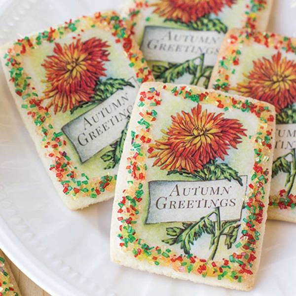 Autumn Greetings Mini Postcards Wafer Paper