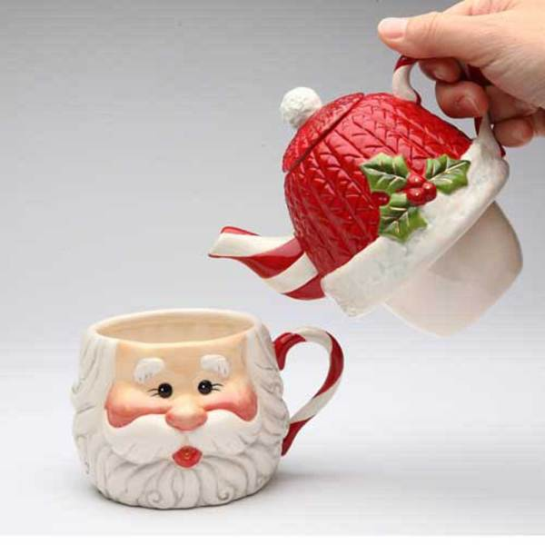 Santa Tea for One Gift Set
