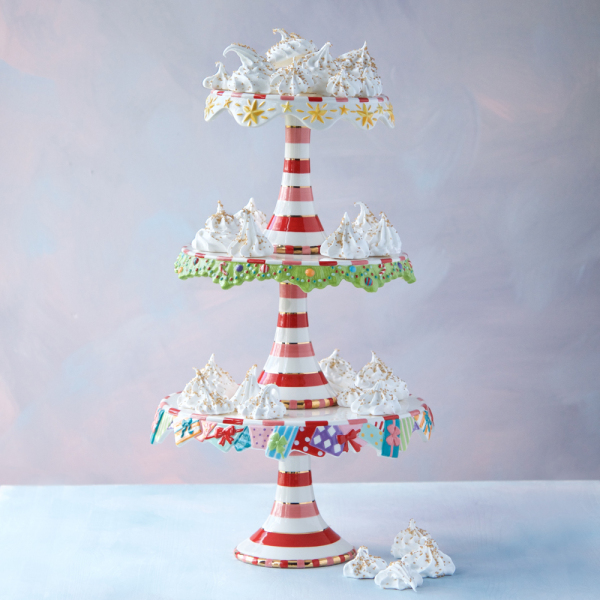 AS IS!  Christmas Treats Stacking Cake Plates