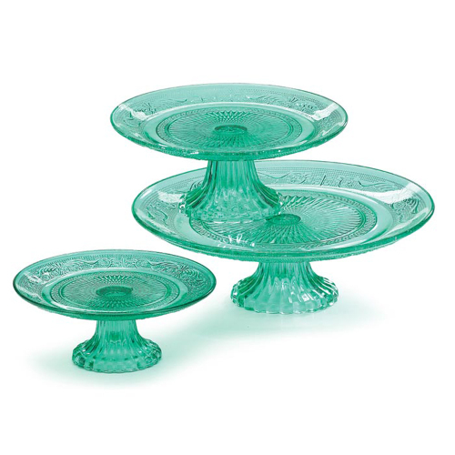 Mint Green Cake Pedestal Trio
