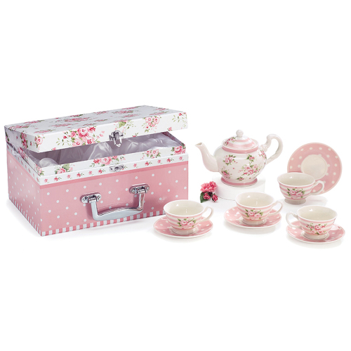 Pink Roses Child's Tea Set