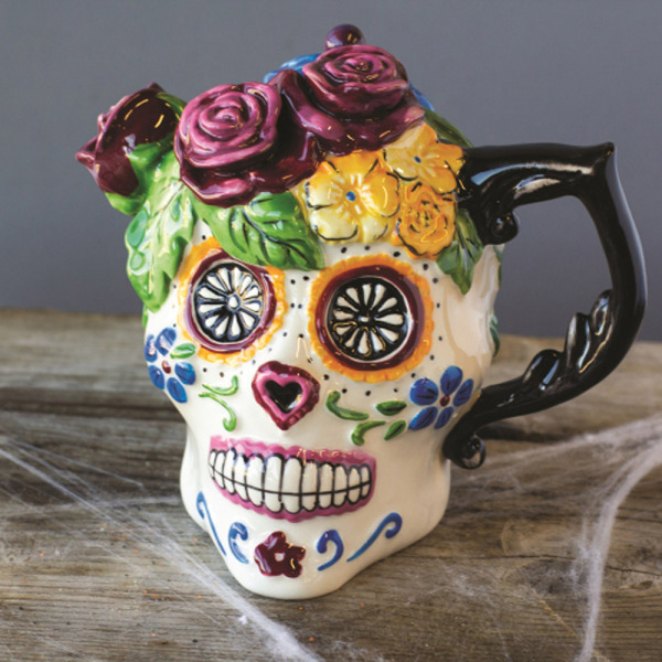 SOS! Sugar Skull Teapot