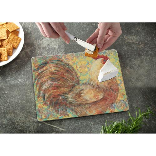SOS!  Fancy Chicken Glass Counter Saver