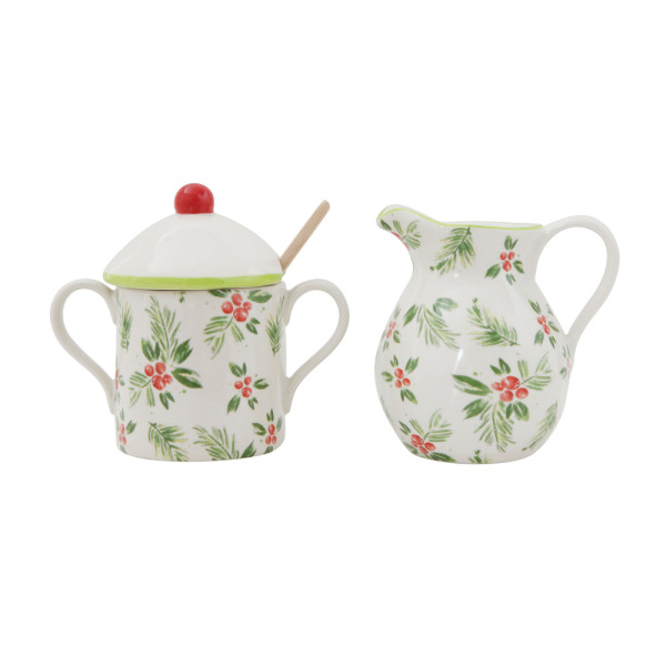 SALE!  Holly Berries Sugar & Creamer