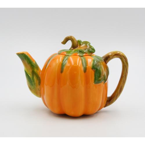 SOS!  Autumn Pumpkin Teapot