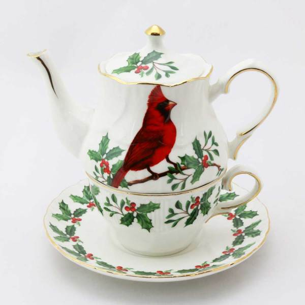 SALE!  Red Cardinal Tea for One