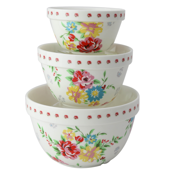 Shabby Rose Mixing Bowl Set