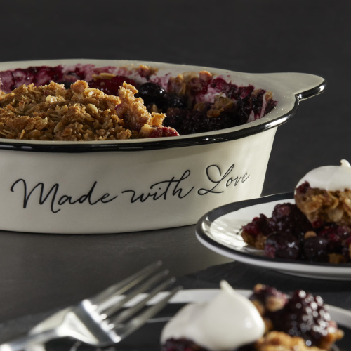 LTD QTY!  Made with Love Pie Dish
