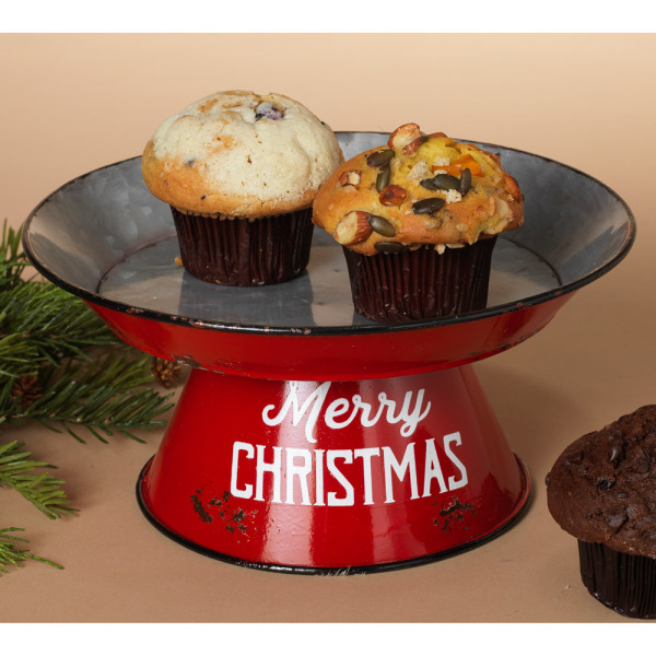 Red Metal Treat Stand