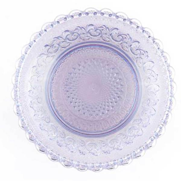 SALE!  Amethyst Chantilly Glass Plate Set