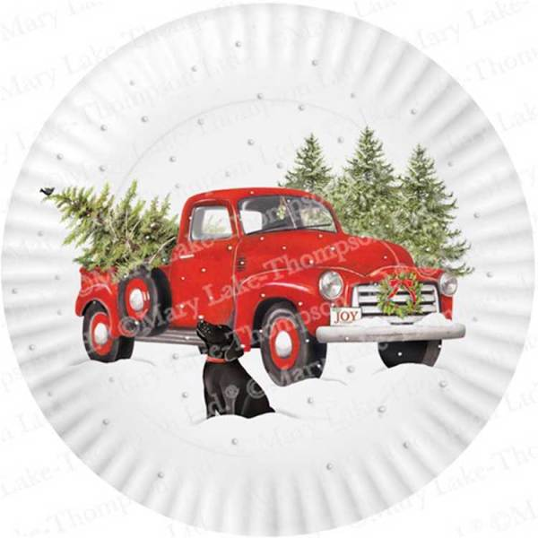 LTD QTY! Holiday Truck Melamine Platter, 16""