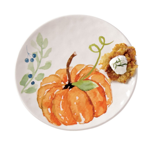 SALE!  Pumpkin and Vine Plate - Large Orange