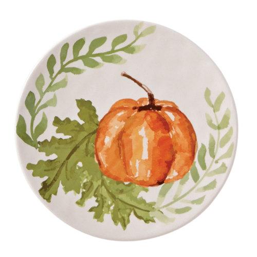 SALE!  Pumpkin and Vine Plate - Small Orange