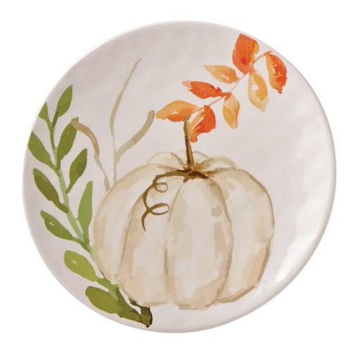 SALE!  Pumpkin and Vine Plate - White