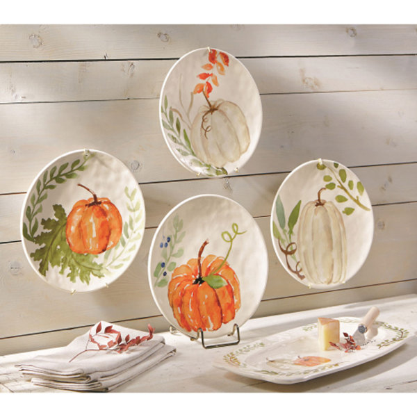 SALE!  Autumn Pumpkin Dessert Plates