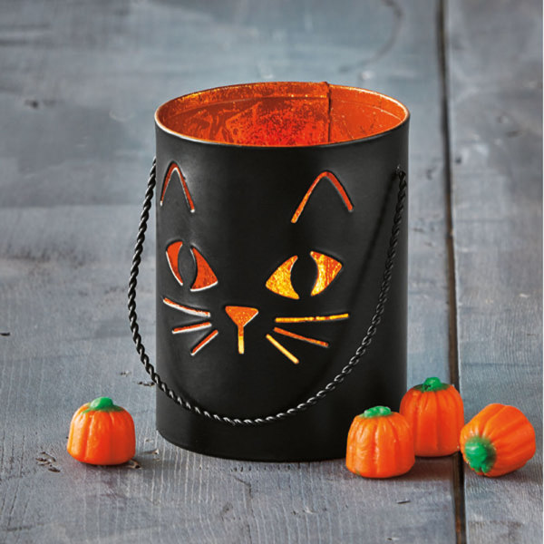 Black Cat Tealight Lantern