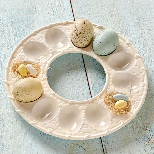 Lattice Egg Dish