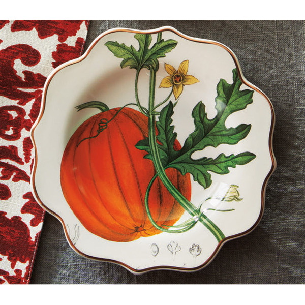 Archival Pumpkin Serving Plate
