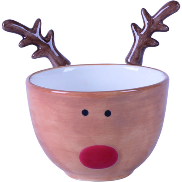 SALE!  Reindeer Bowl With Spreaders