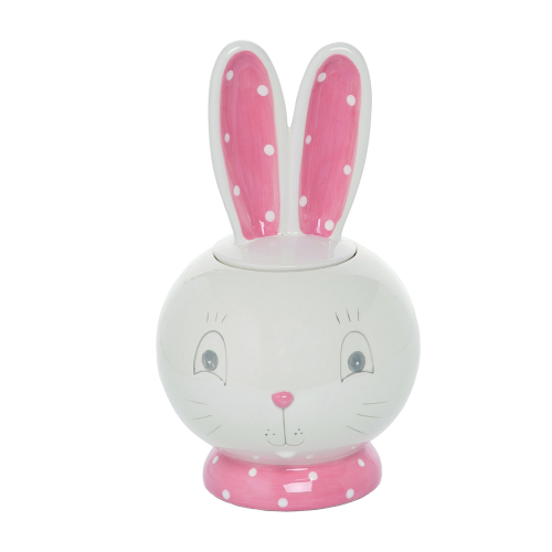 Bunny Ears Cookie Jar