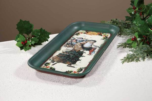 SALE!  Vintage Santa Serving Tray