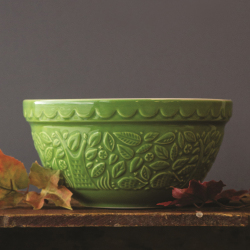 Hedgehog Embossed Green Mixing Bowl 1.5 QT by Mason Cash