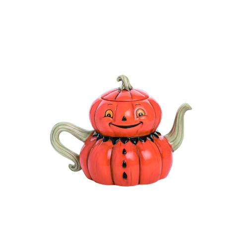 SOS!  Jack O Lantern Teapot