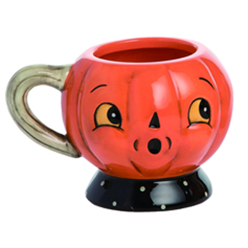 LTD QTY!  Pumpkin Tea Cup Set