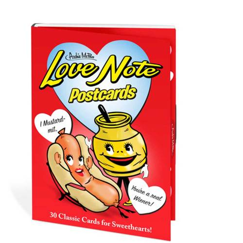 SALE!  Retro Love Notes Postcards Book