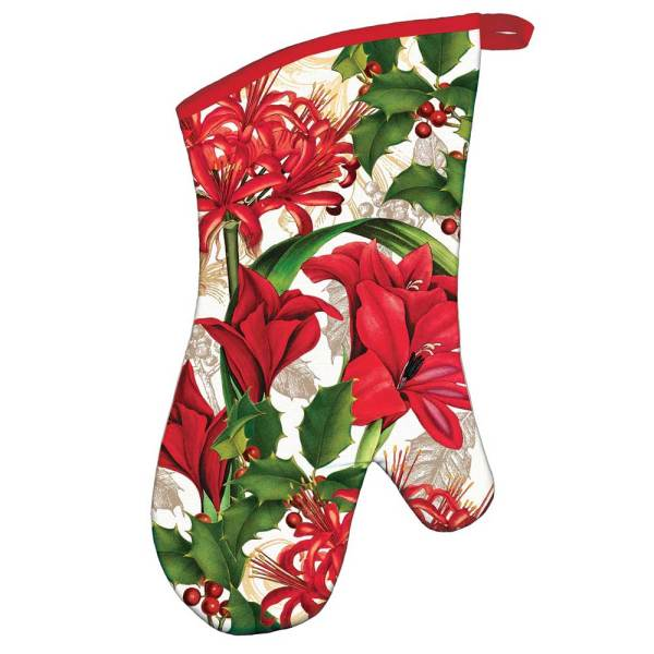 LTD QTY!  Christmas Time Oven Mitt