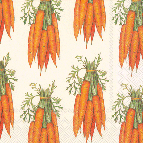 Carrots Paper Lunch Napkins