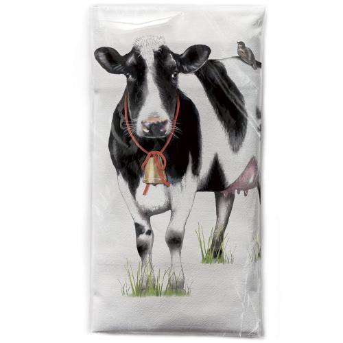 LTD QTY!  Bessie the Cow Flour Sack Towel