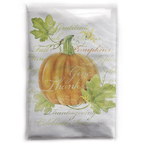 Pumpkin Botanical Flour Sack Towel