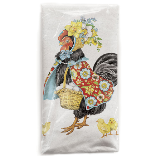 SALE!  Fancy Hen Flour Sack Towel