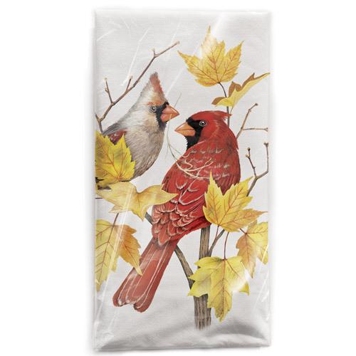 Cardinals Maple Branch Flour Sack Towel