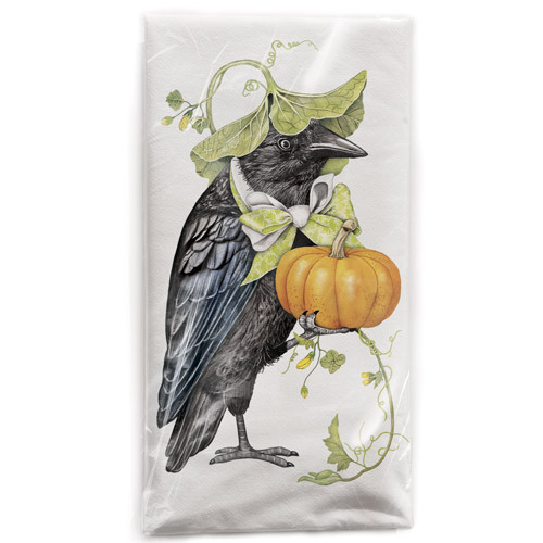Crow Leaf Hat Flour Sack Towel