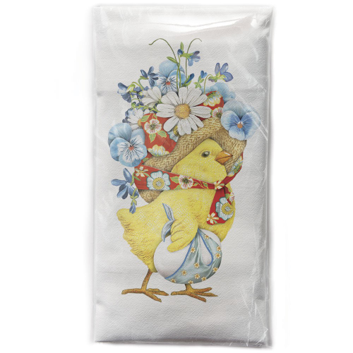 Flower Bonnet Chick Flour Sack Towel