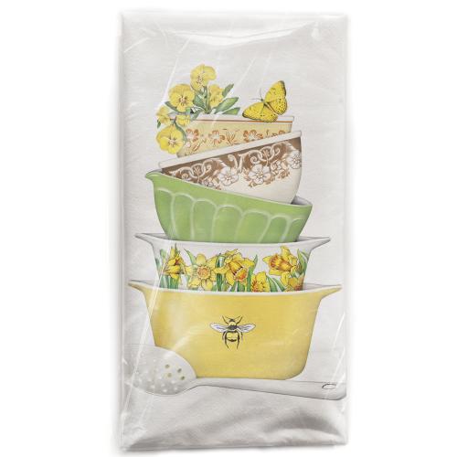 SALE!  Spring Bowls Flour Sack Towel