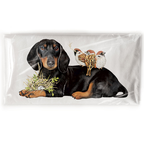 Doxie Birds Flour Sack Towel