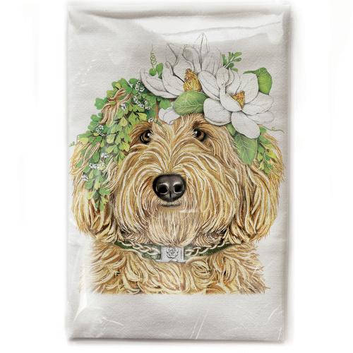Flower Crown Doodle Flour Sack Towel