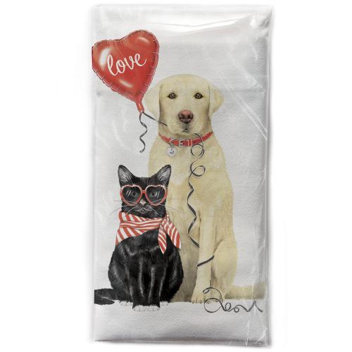 Valentine Pets Flour Sack Towel