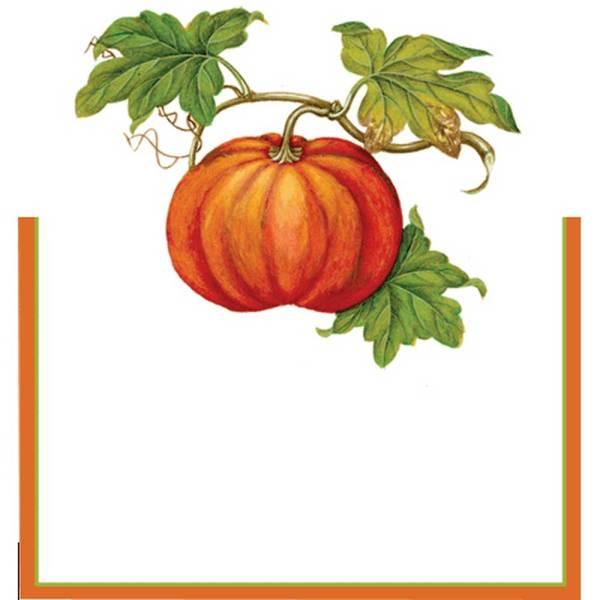 SALE!  Autumn Pumpkin Place Cards Set
