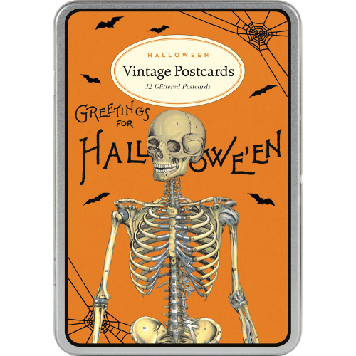 LTD QTY!  Halloween Vintage Glitter Postcards - Cavallini