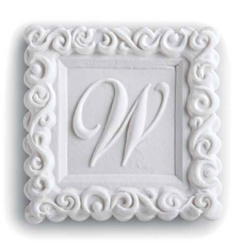 Monogram W Cookie Mold