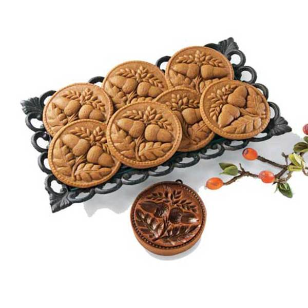 Double Acorn Cookie Mold