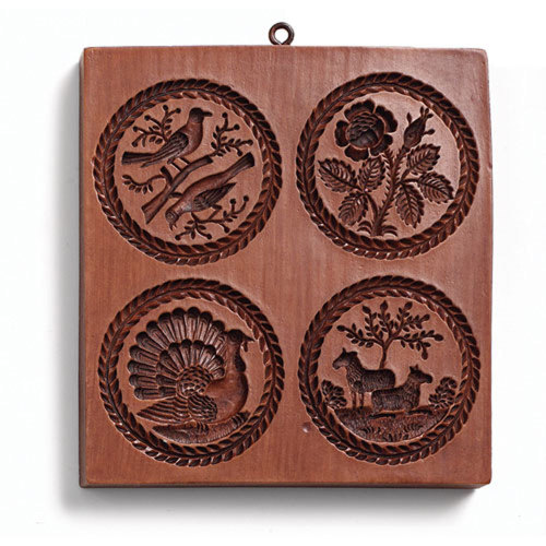 Four Round Pictures Cookie Mold