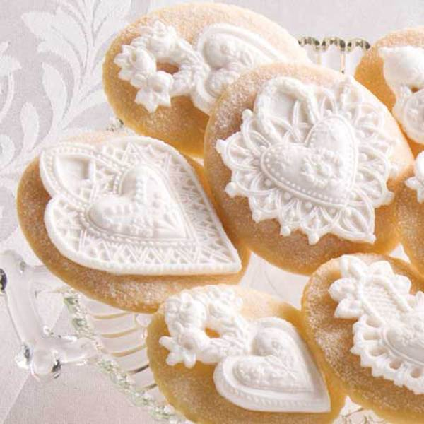 Two Hearts Valentine Cookie Mold