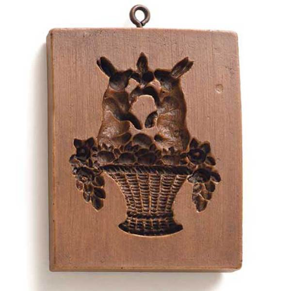 Bunnies in a Basket Cookie Mold
