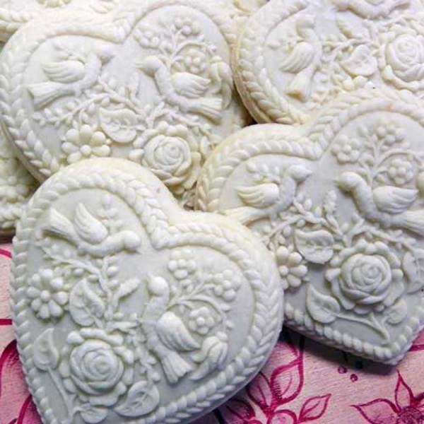 Heart and Rose Cookie Mold
