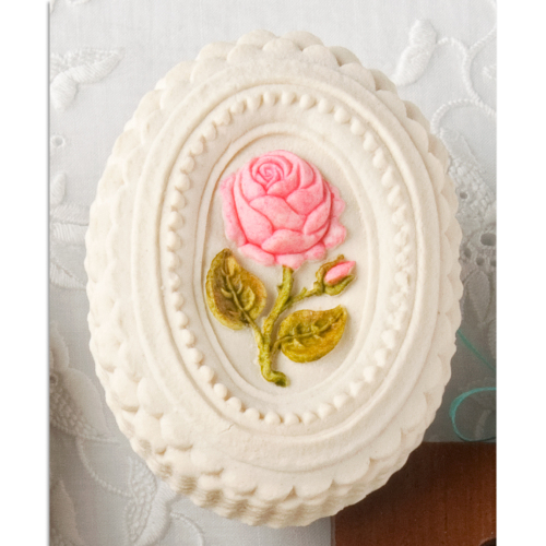 Oval Rose Cookie Mold